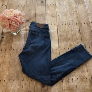 "Madewell 10"" High Riser Button Fly Skinny Jeans-29"